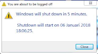 cara shutdown otomatis windows 10