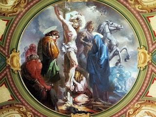 Pintura de Aldo Locatelli na Catedral de Santa Maria (RS) - Cristo Crucificado