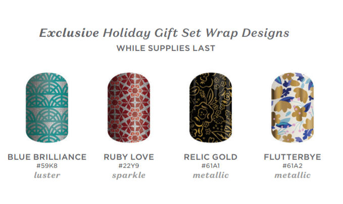 Jamberry Holiday Gift Set exclusive designs