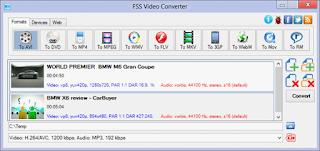 برنامج fss video converter لتحويل الفيديو من صيغه الى اخرى