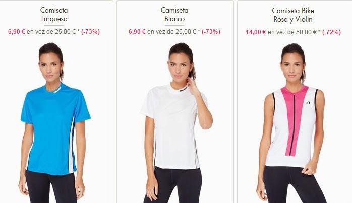 Camisetas de running y ciclismo para mujer