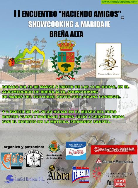 La cocina tradicional con frescos y el maridaje de bebida y puros vuelve este sábado a Breña Alta