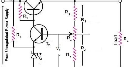 Transistor Series Voltage Regulator Theory ~ Electronics