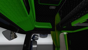 Black Green Interior for Scania Streamline