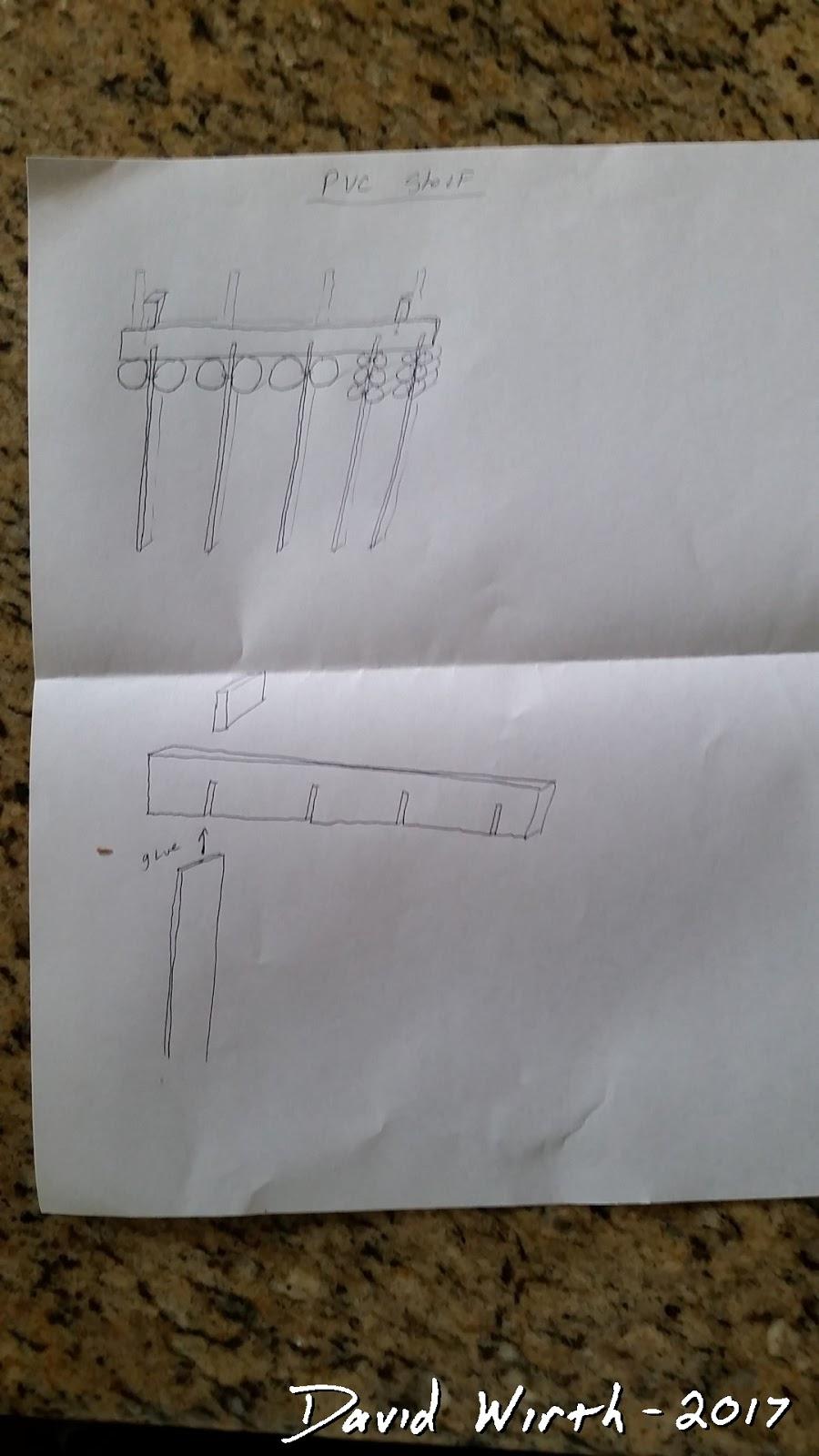 PVC Pipe Shelf - Paint Can, Glue Organize Wall Rack