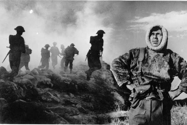 Haqeeqat, war scene, Chetan Anand film