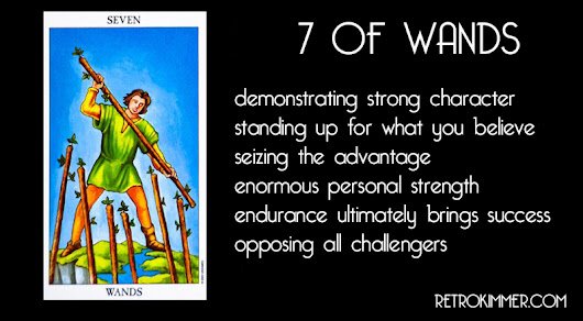 7 OF WANDS: ENDURANCE STRENGTH SUCCESS