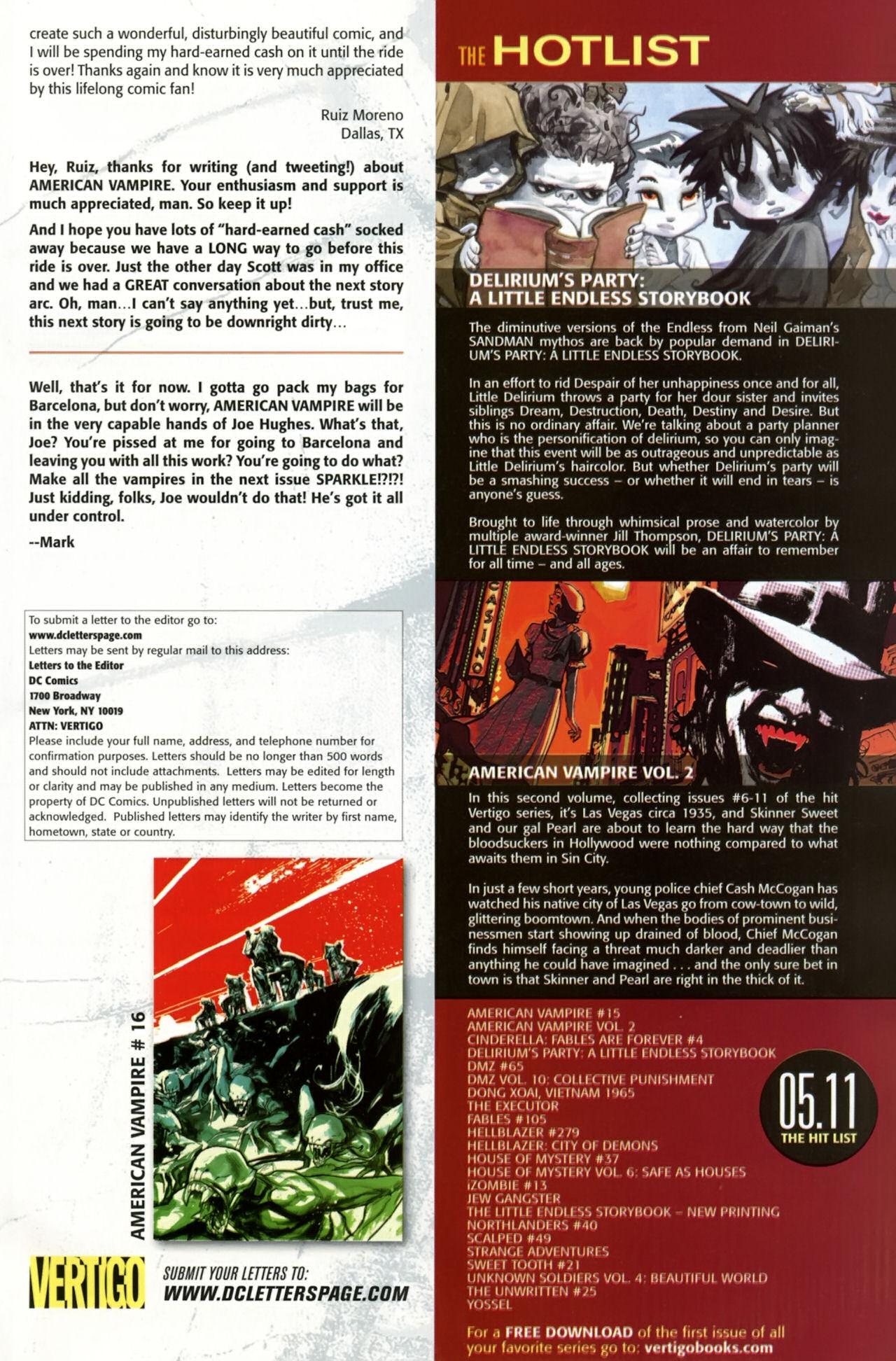 Read online American Vampire comic -  Issue #15 - 22