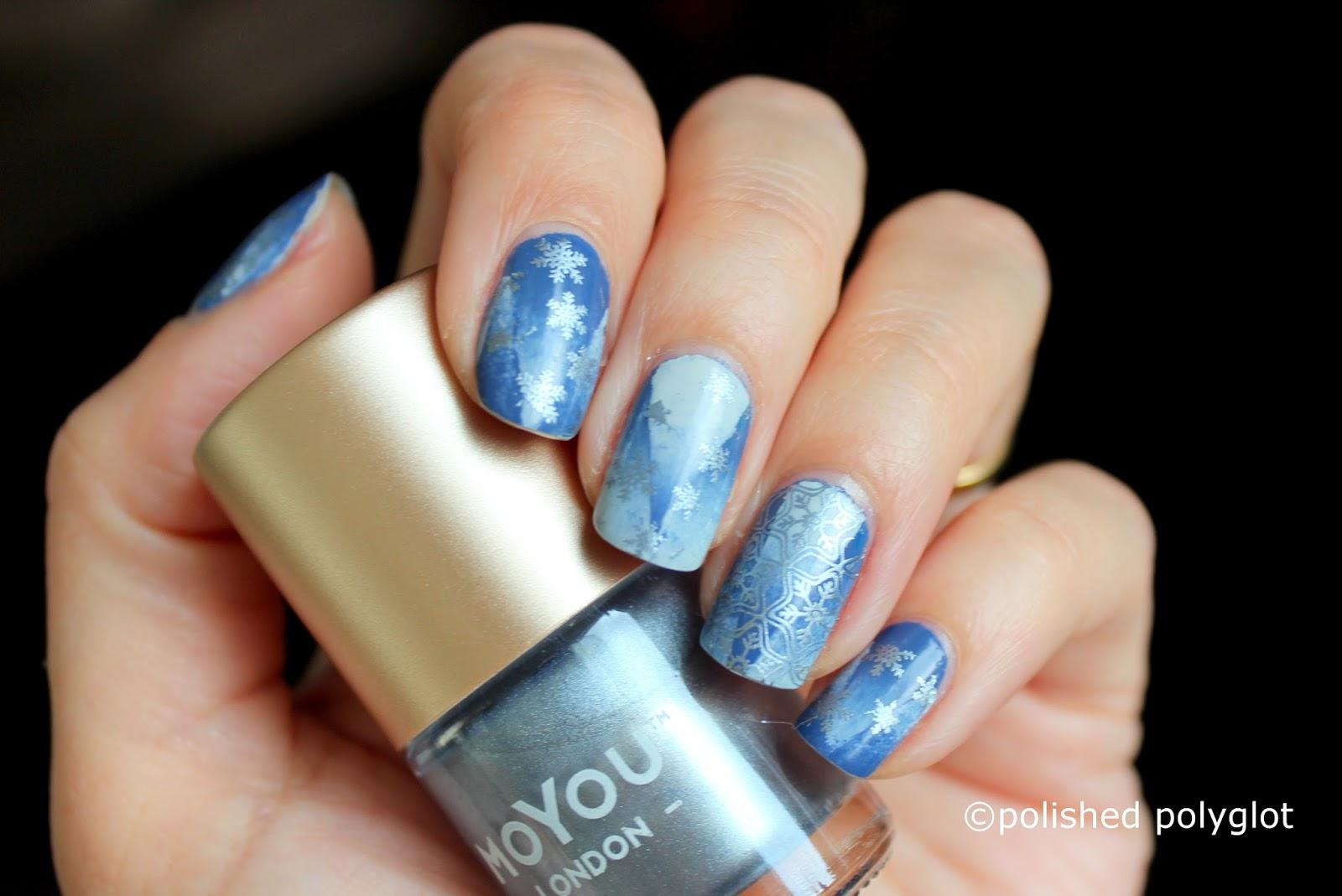 Nail Art │ Snowy morning nails using Moyou London [26GNAI ...