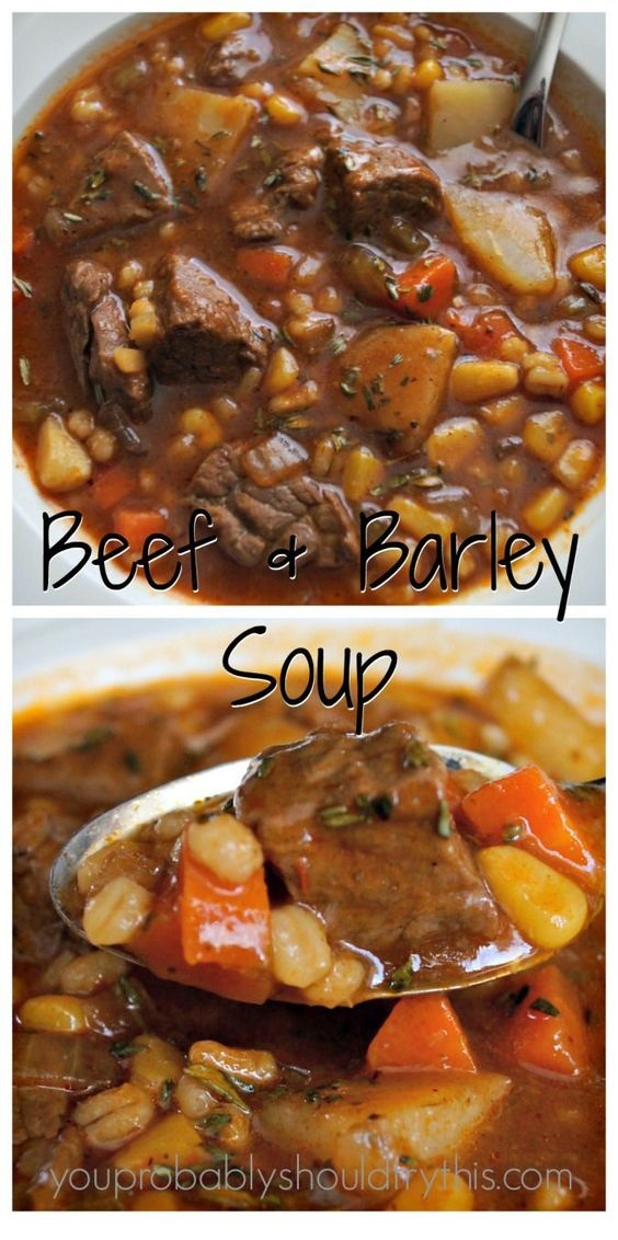 Hearty Beef & Barley Soup