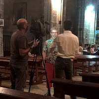 Robert Hugill being interviewed for TV in Avila - photo David Hughes