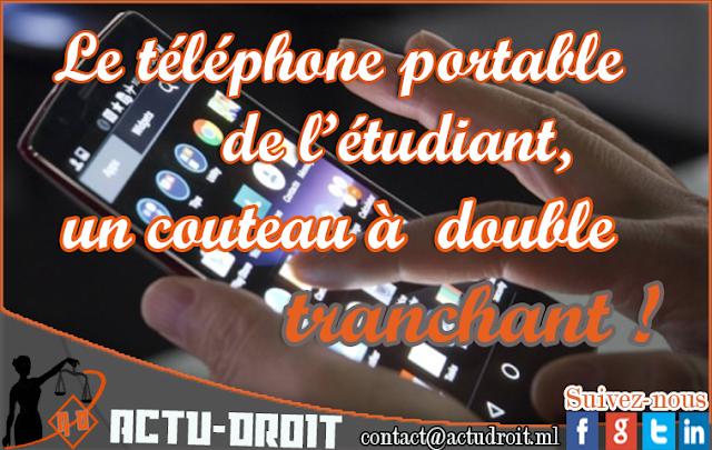 Le téléphone portable de l'étudiant, un couteau a double tranchant