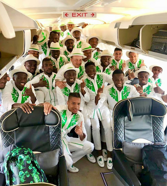 Image result for super eagles in russia