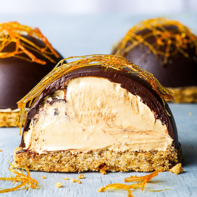 GLUTEN & DAIRY FREE CARAMEL MOUSSE CAKES {gluten, dairy, nut & soy free, refined sugar free option}