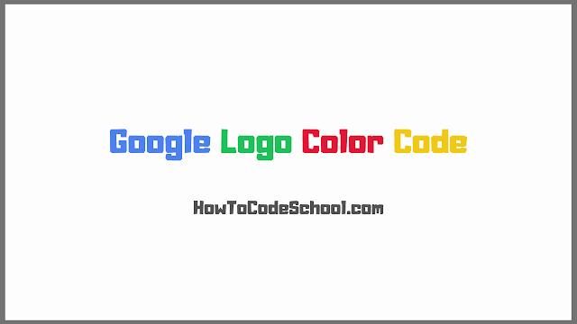 Google Logo Color Code
