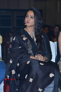 Actress Anushka Anushka Shetty Stills in Black Salwar Kameez at Om Namo Venkatesaya Audio Launch Event  0005.JPG