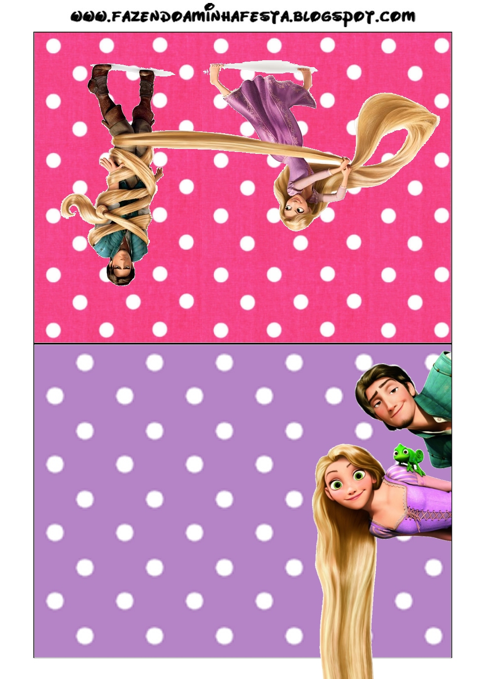Invitaciones De Enredados Rapunzel Para Imprimir Gratis