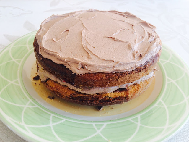 The Betty Stamp Lifestyle Blog Crushed Crunchie Marble Cake Recipe