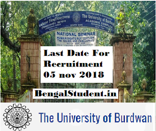 Assistant Engineer of University of Burdwan Recruitment 2018