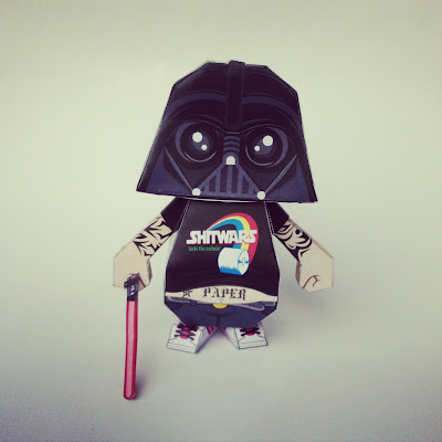Darth Fater Paper Toy