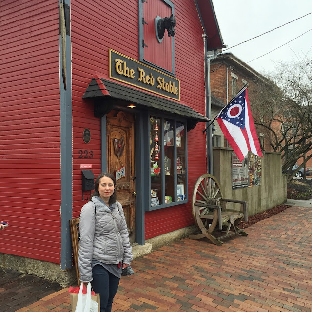 Shopping for made in Ohio goods at The Red Stable in German Village
