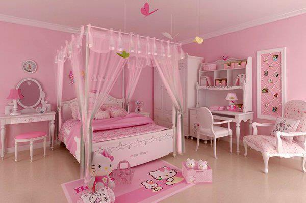 Trang tri phong ngu Hello Kitty dep 02