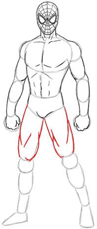 Cara Mudah Menggambar atau Sketsa  Spiderman