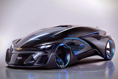 Auto prototipo de Chevrolet con estilo Tron