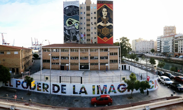 Street Art By British Muralist D*Face For The Maus Malaga Urban Art Event In Spain. 8