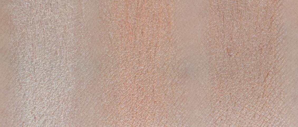 alverde Naturkosmetik - Make-Up Review Favoriten 2018 Highlighter Strobing Glow Palette Swatches