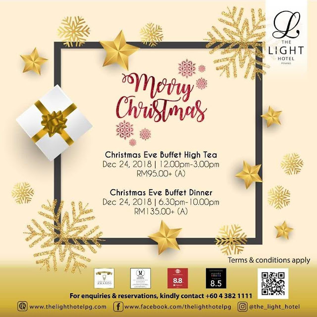 Christmas & New Year Buffet Celebration at Hotel in Penang 2018