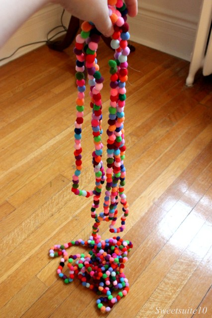 colourful pompom garland