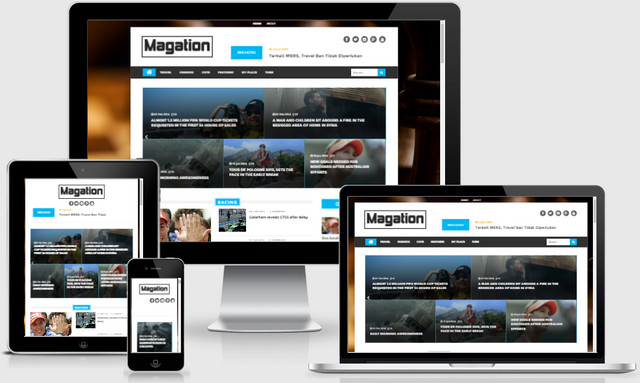 Magation Magazine Responsive Blogger Templates