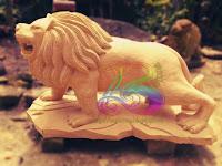 Patung singa batu alam paras jogja
