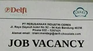 Karir Lowongan Kerja PT Ceres Bandung 2019 SMA SMK D1 S1