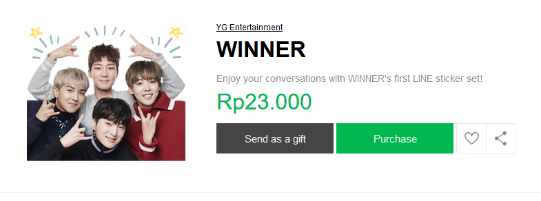 winner line sticker