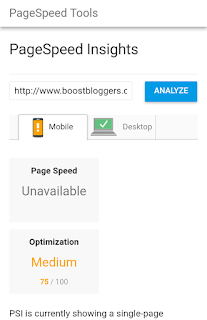 Pagespeed insights : Boost Bloggers without SSL