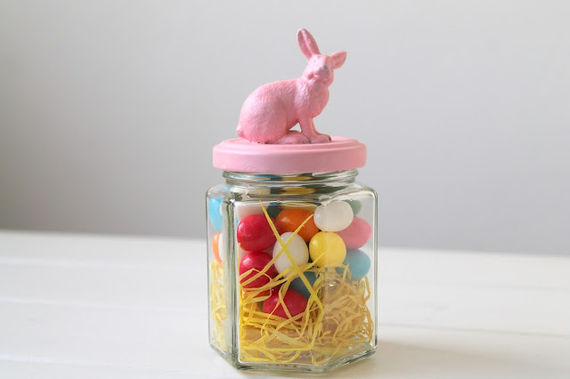 Ostergeschenk im Glas Osternest Schraubbglas Osterhase