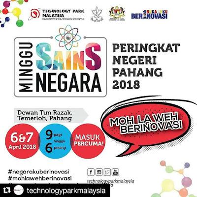 Minggu Sains Negara 2018 Kini Sampai Ke Temerloh, Pahang
