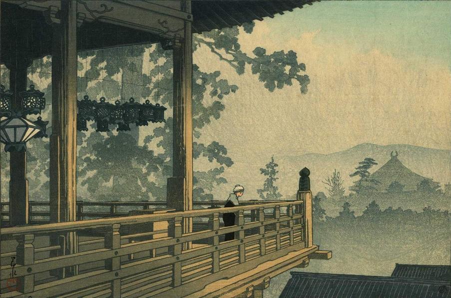 forma es vacío, vacío es forma: Kawase Hasui - acuarela, xilografía,  pintura, grabado,