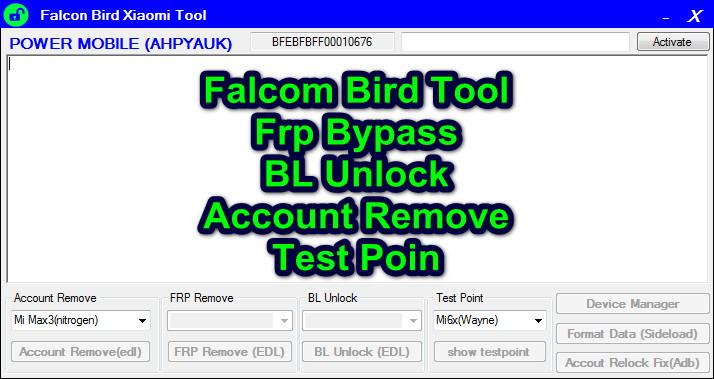 Falcon Bird Xiaomi Tool Download Free - Ijaz Mobile Repairing