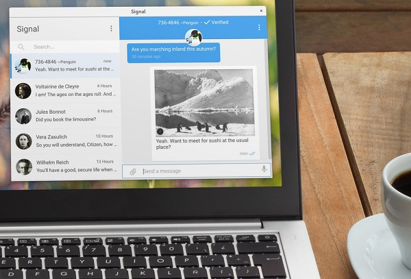Signal Desktop app launches on Linux, macOS and Windows