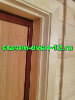Портал на входную дверь из дерева