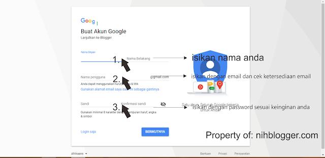 membuat akun baru di google