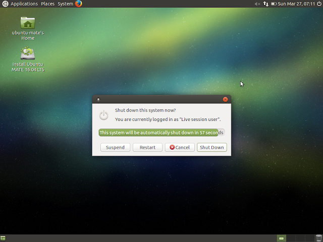 Shutdown confirmation in Ubuntu MATE
