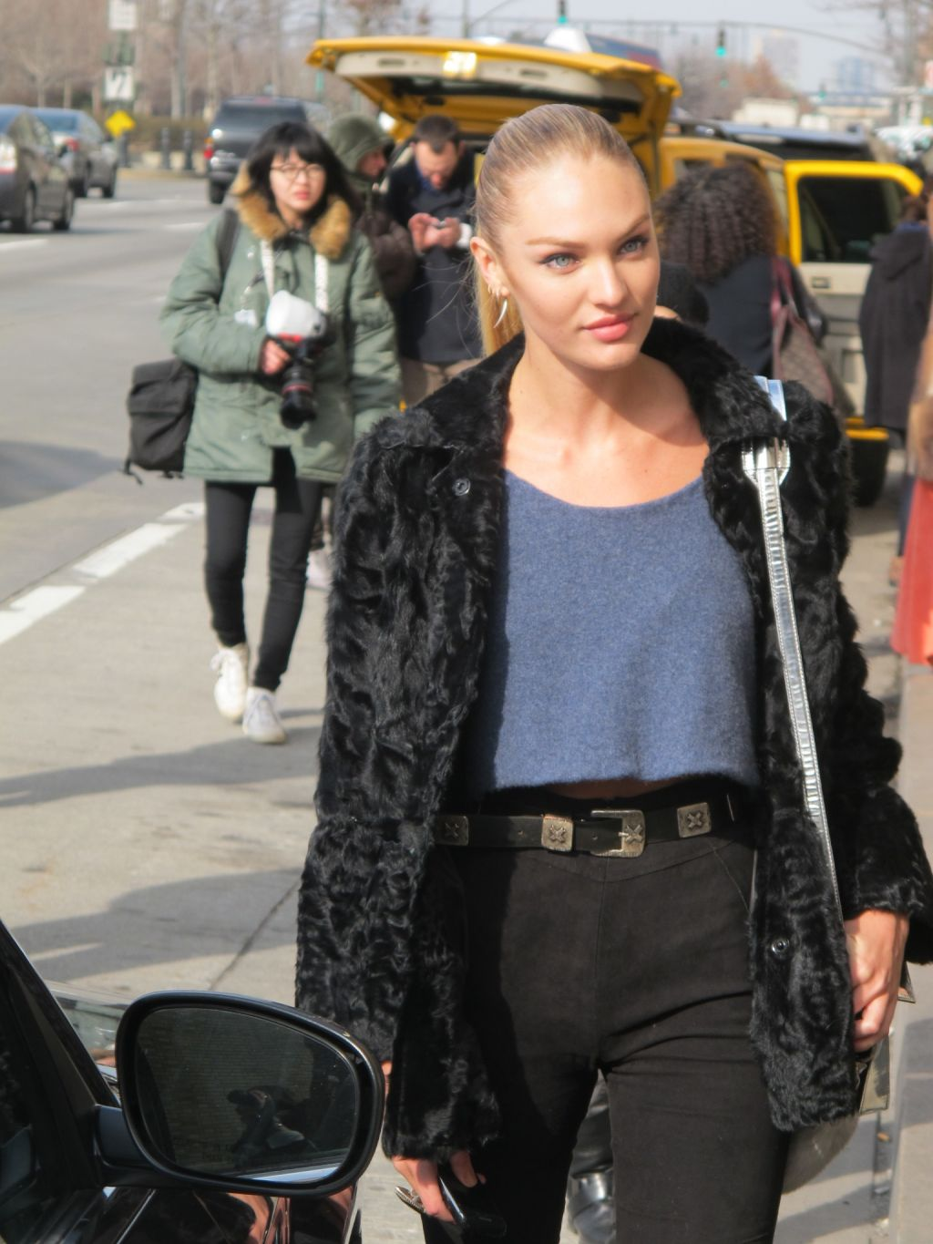 Fashion Week Street Style Candice Swanepoel The Front
