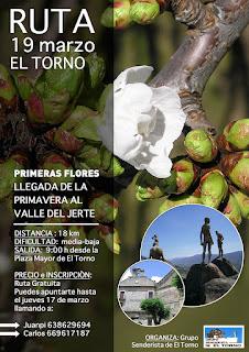 """Ruta 19 de marzo. El Torno, Valle del Jerte """"Primeras Flores"""""""