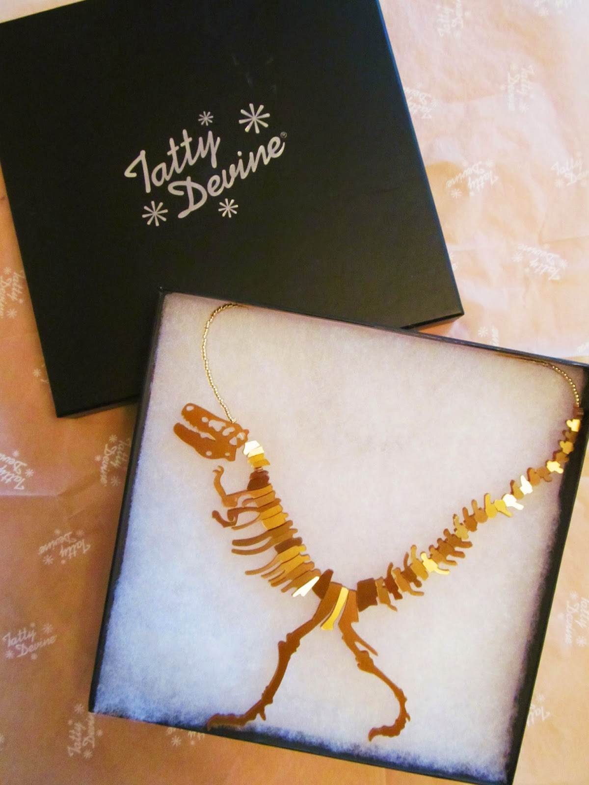 tatty devine t rex necklace