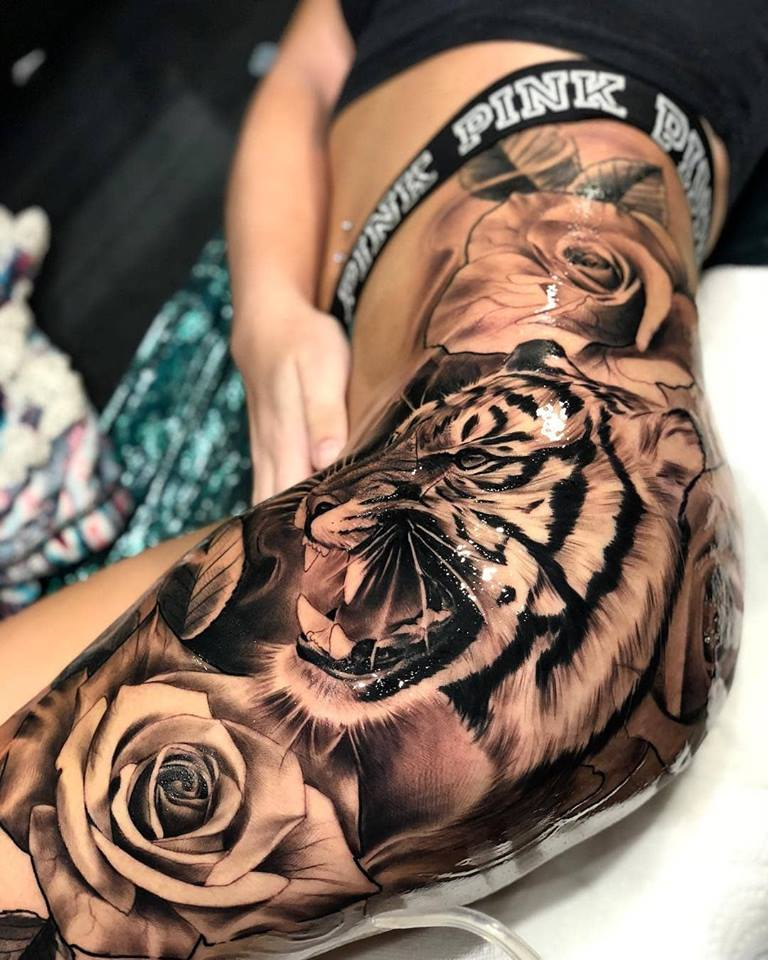 tiger-tattoos-for-girls-1 15 Most Amazing Tiger Tattoos For Women tattoo