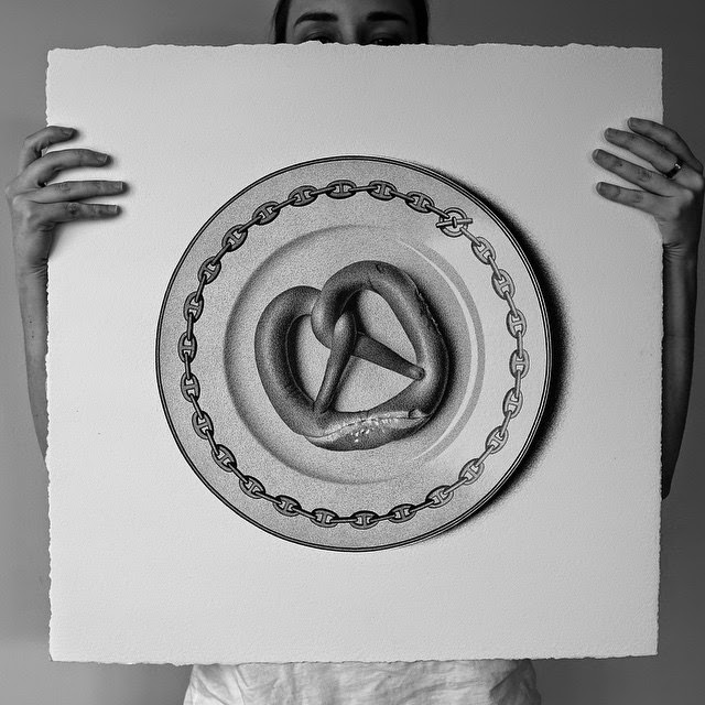 28-Pretzel-C-J-Hendry-Hyper-Realistic-Drawings-of-Food-www-designstack-co